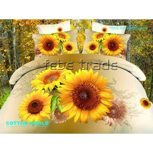 Pościel 3D - Cotton World - FSB-217 - 220x200 cm - 4 cz