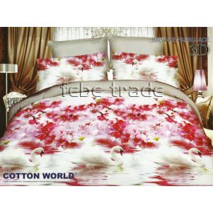 Pościel 3D - Cotton World - FSB-218 - 220x200 cm - 4 cz