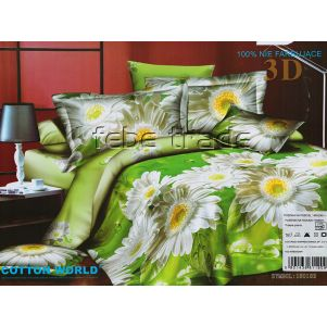 Pościel 3D - Cotton World - FSB-229 - 220x200 cm - 4 cz