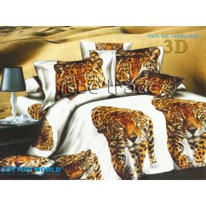 Pościel 3D - Cotton World - FSB-234 - 220x200 cm - 4 cz