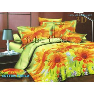 Pościel 3D - Cotton World - FSB-303 - 220x200 cm - 4 cz