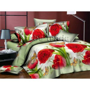 Pościel 3D - Cotton World - FSB-303 - 220x200 cm - 3 cz