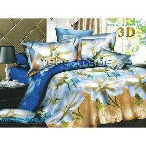 Pościel 3D - Cotton World - FSB-303 - 160x200 cm - 4 cz