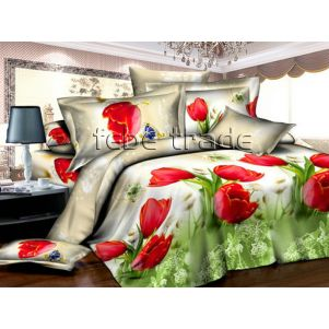 Pościel 3D - Cotton World - FSB-373 - 180x200 cm - 4 cz