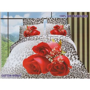 Pościel 3D - Cotton World - FSB-373 - 160x200 cm - 4 cz