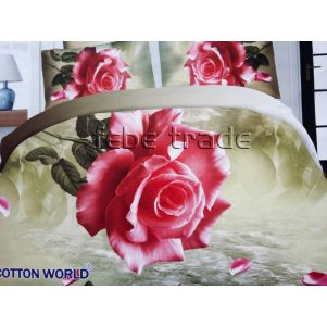 Pościel 3D - Cotton World - FSB-406 - 220x200 cm - 4 cz