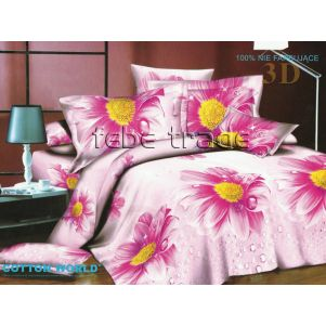 Pościel 3D - Cotton World - FST-304 - 220x200 cm - 4 cz