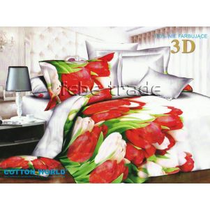 Pościel 3D - Cotton World - FST-305 - 220x200 cm - 4 cz