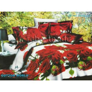Pościel 3D - Cotton World - FST-305 - 160x200 cm - 3 cz