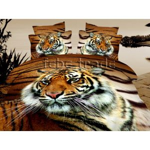 Pościel 3D - Cotton World - FST-1709 - 160x200 cm - 3 cz