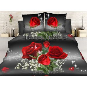 Pościel 3D - Cotton World - FST-1711 - 160x200 cm - 5 cz