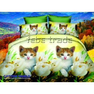 Pościel 3D - Cotton World - FST-280 - 160x200 cm - 4 cz