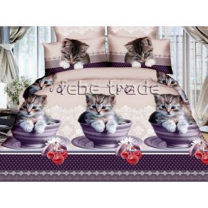 Pościel 3D - Cotton World - Febe - MSP-902 - 220x200 cm - 3 cz