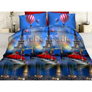Pościel 3D - Cotton World - Febe - MSP-902 - 160x200 cm - 4 cz