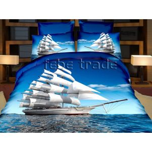 Pościel 3D - Cotton World - FPW-237 - 160x200 cm - 6 cz