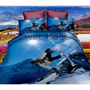 Pościel 3D - Cotton World - FPP-249 - 160x200 cm - 3 cz