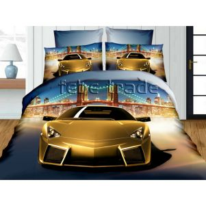 Pościel 3D - Cotton World - FST-342 - 160x200 cm - 3 cz
