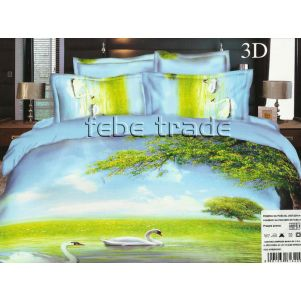 Pościel 3D - Cotton World - FSH-336 - 160x200 cm - 3 cz