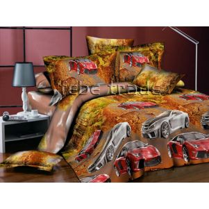 Pościel 3D - Cotton World - FSH-519 - 220x200 cm - 3 cz