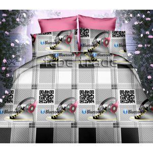 Pościel 3D - Cotton World - FSC-319 - 220x200 cm - 3 cz