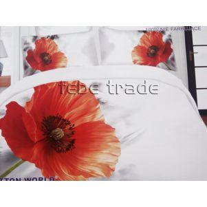 Pościel 3D - Cotton World - FST-472 - 160x200 cm - 3 cz