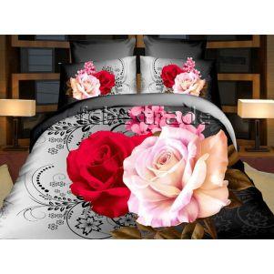 Pościel 3D - Cotton World - FSB-356 - 160x200 cm - 3 cz