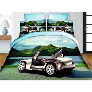 Pościel 3D - Cotton World - FSH-159 - 220x200 cm - 3 cz