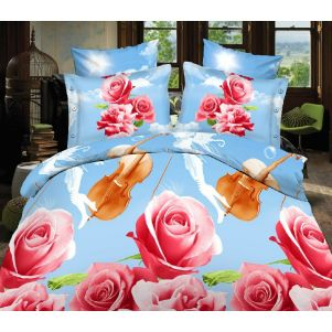 Pościel 3D - Cotton World - FSH-406 - 220x200 cm - 3 cz