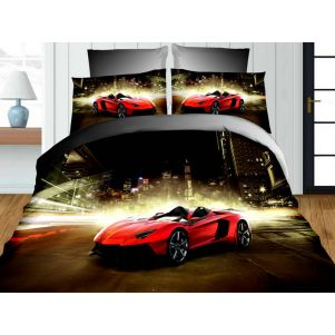Pościel 3D - Cotton World - FSC-342 - 160x200 cm - 3 cz