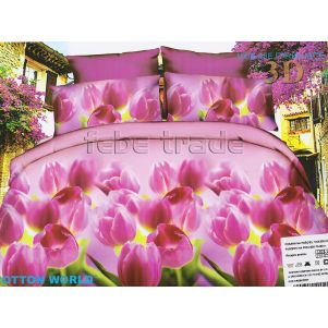 Pościel 3D - Cotton World - FSP-341 - 160x200 cm - 3 cz